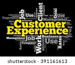 customer experience word cloud  ... | Shutterstock .eps vector #391161613