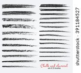 a set of vector brush strokes... | Shutterstock .eps vector #391184527