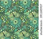 colorful vivid vector seamless... | Shutterstock .eps vector #391185937