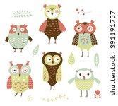 birds  flat style vector... | Shutterstock .eps vector #391191757