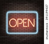 Neon Sign With The Word Open O...
