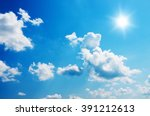 blue sky and sun. | Shutterstock . vector #391212613