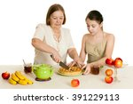 the grandmother treats the... | Shutterstock . vector #391229113
