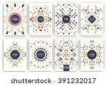 set of geometric abstract... | Shutterstock .eps vector #391232017