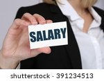 salary increase negotiation... | Shutterstock . vector #391234513