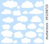 vector illustration of clouds... | Shutterstock .eps vector #391258723