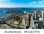 aerial photo of sydney cbd with ... | Shutterstock . vector #391261753