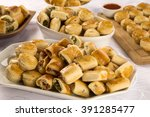 mixed brazilian snack on the... | Shutterstock . vector #391285477
