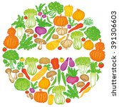 vegetable circle. | Shutterstock .eps vector #391306603