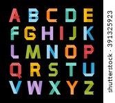 alphabet vector .paper ribbon... | Shutterstock .eps vector #391325923