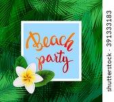 summer tropical background of... | Shutterstock .eps vector #391333183