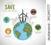 ecology concept design  | Shutterstock .eps vector #391345777