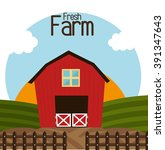 farm fresh design  | Shutterstock .eps vector #391347643