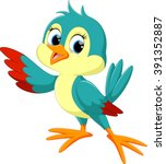 cute bird cartoon | Shutterstock .eps vector #391352887