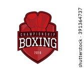 vector label of boxing. logo of ... | Shutterstock .eps vector #391364737