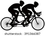 Bicycle Tandem Racer Vector...