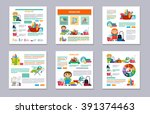 set flyer design  brochure... | Shutterstock .eps vector #391374463