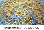 Spiral Pattern Golden Mosaic...