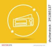 ticket color doodle | Shutterstock .eps vector #391385137