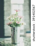 white flower in vase | Shutterstock . vector #391402567