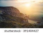 scenic lanscape with coastline... | Shutterstock . vector #391404427