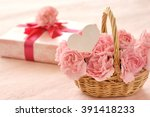 Pink Carnation And Gift Box...