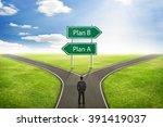 businessman concept  sign plan... | Shutterstock . vector #391419037