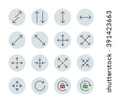 symbols and arrows icons | Shutterstock .eps vector #391423663