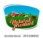Cow Milk Vector Logo. Dairy...