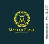 hotel logo boutique logo crest... | Shutterstock .eps vector #391451797