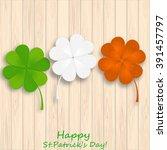 irish flag colors for st.... | Shutterstock .eps vector #391457797