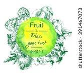 fruits   blueberries ... | Shutterstock .eps vector #391467073