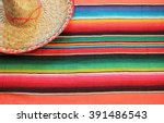 Mexican Serape Sombrero Cinco...