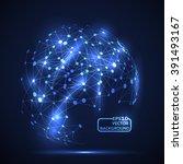 design technology network ... | Shutterstock .eps vector #391493167