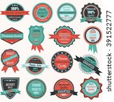 vintage retro  badge.elements... | Shutterstock .eps vector #391522777