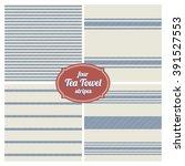 seamless french tea towel... | Shutterstock .eps vector #391527553