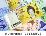 south korean won currency. | Shutterstock . vector #391530523