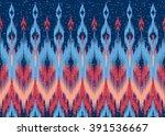 geometric ethnic oriental ikat... | Shutterstock .eps vector #391536667