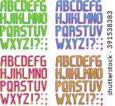 color 3d striped font in 4... | Shutterstock .eps vector #391538383