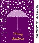 christmas card | Shutterstock .eps vector #39153916