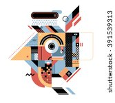 geometric illustration with... | Shutterstock .eps vector #391539313