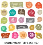 modern badges collection | Shutterstock .eps vector #391551757
