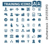 training icons  | Shutterstock .eps vector #391555393