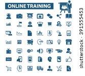 online training icons    Shutterstock .eps vector #391555453