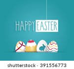 Easter Blue Poster With Hangin...