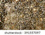 Golden Background Mosaic With...