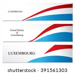 national flag of luxembourg.... | Shutterstock .eps vector #391561303