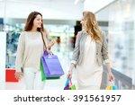 spending time in mall | Shutterstock . vector #391561957