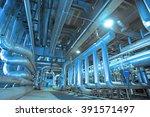 industrial zone  steel...   Shutterstock . vector #391571497