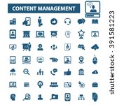 content management icons  | Shutterstock .eps vector #391581223